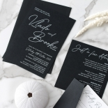Contemporary in Black and White - Wedding Invitations - GI-CP350-01 - 184135