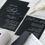 Contemporary in Black and White - Wedding Invitations - GI-CP350-01 - 184134
