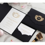 Stunning Regal Ebony Pocket - Wedding Invitations - BP-SOLPW-TR30-GG-01 - 184058