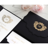 Stunning Regal Ebony Pocket - Wedding Invitations - BP-SOLPW-TR30-GG-01 - 184056