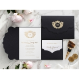 Stunning Regal Ebony Pocket - Wedding Invitations - BP-SOLPW-TR30-GG-01 - 184055