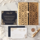 Imperial Glamour - Navy - Wedding Invitations - PWI116022-NV - 184192