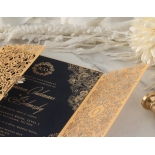 Imperial Glamour - Navy - Wedding Invitations - PWI116022-NV - 184195