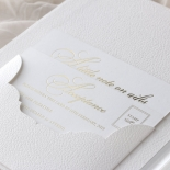 Lush Leather Hardcover - Wedding Invitations - HC-LLWH-01 - 184953