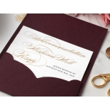 Imperial Burgundy and Gold Pocket - Wedding Invitations - BP-SOLPW-TR30-GG-02 - 184090