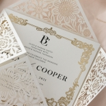 Blooming Charm Foil and Black Ink - Wedding Invitations - BW520-WH-PFL - 185265