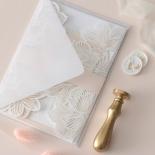 Foil Stamped Floral Laser Cut Elegance - Wedding Invitations - BH1680-F - 184161