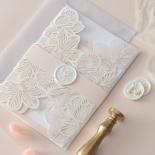 Foil Stamped Floral Laser Cut Elegance - Wedding Invitations - BH1680-F - 184162