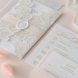 Foil Stamped Floral Laser Cut Elegance - Wedding Invitations - BH1680-F - 184165
