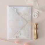 Foil Stamped Floral Laser Cut Elegance - Wedding Invitations - BH1680-F - 184159