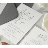 Contemporary Ebony Letterpress - Wedding Invitations - WP-IC55-LP-15 - 184467