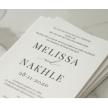 Bold Ebony Letterpress - Wedding Invitations - WP-IC55-LP-04 - 184443