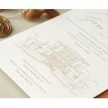 Bellissima Letterpressed Castle - Wedding Invitations - WP-IC55-LP-02 - 184210