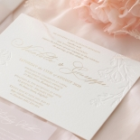 Floral Letterpress with Foil - Wedding Invitations - IC55-GG-LPBD-06 - 185000