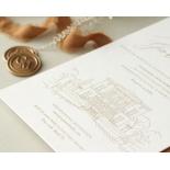 Bellissima Letterpressed Castle - Wedding Invitations - WP-IC55-LP-02 - 184211