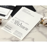 Sophisticated in Grey Letterpress - Wedding Invitations - WP-IC55-LP-01 - 184206