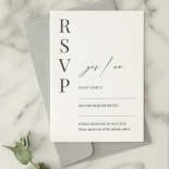 Bold Ebony Letterpress - Wedding Invitations - WP-IC55-LP-04 - 184444