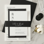 Sophisticated in Grey Letterpress - Wedding Invitations - WP-IC55-LP-01 - 184204