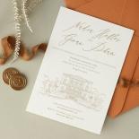 Bellissima Letterpressed Castle - Wedding Invitations - WP-IC55-LP-02 - 184212