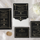 Gatsby Monochrome - Wedding Invitations - MB300-GG-01 - 185334