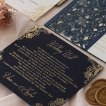 Navy Imperial Glamour - Wedding Invitations - PWI116022-NV-WH - 185215