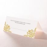 Divine Damask reception place card stationery design
