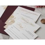 Imperial Burgundy and Gold Pocket - Wedding Invitations - BP-SOLPW-TR30-GG-02 - 184094