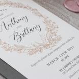 Pre Foiled Ivory Floral Wreath - Wedding Invitations - PM-KI300-PFL-B-02 - 184721