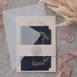 Pre Foiled Blush Floral Wreath - Wedding Invitations - PM-CP02-PFL-B-01 - 184717