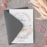 Pre Foiled Ivory Floral Wreath - Wedding Invitations - PM-KI300-PFL-B-02 - 184722