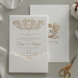 Quilted Half Pocket Royal Elegance - Wedding Invitations - WP309GG - 183828
