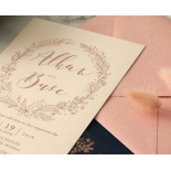 Chic Navy and Rosy Blush Foil - Wedding Invitations - WP-CR07-BR - 184237