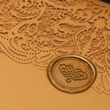 Royal Golden Lace with Pocket - Wedding Invitations - PWI116022-WH-C-7616 - 183890