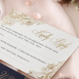 Navy Imperial Glamour - Wedding Invitations - PWI116022-NV-WH - 185216