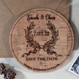 Chic Country Passion save the date card