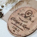 Ever After Countryside wedding save the date card design