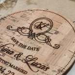 Ever After Countryside wedding stationery save the date card