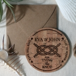Nautical Love Knot save the date stationery card design