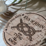 Nautical Love Knot wedding save the date card