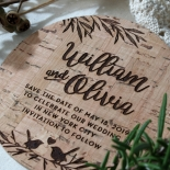 Springtime Love wedding save the date card