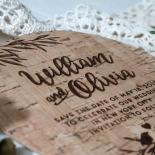Springtime Love wedding save the date card design