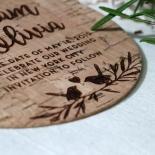 Springtime Love wedding save the date stationery card