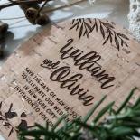 Springtime Love wedding save the date stationery card design