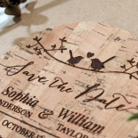 Whimsical Love Birds wedding stationery save the date card design