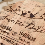 Whimsical Love Birds wedding stationery save the date card item