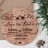 Whimsical Love Birds wedding save the date card design