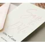 Blush Peach Letterpress - Wedding Invitations - WP-CR14-SD-BL-2 - 184458