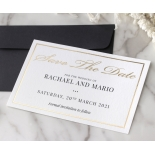 Save the Date in Gold and Black - Wedding Invitations - WP-CR14-SD-KI-G - 184362