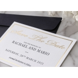 Save the Date in Gold and Black - Wedding Invitations - WP-CR14-SD-KI-G - 184360