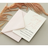 Blush Peach Letterpress - Wedding Invitations - WP-CR14-SD-BL-2 - 184459